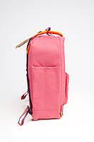 Рюкзак  Fjallraven Kanken Classic Rainbow 16л  Топ качество  красный с радужными ручками, фото 3
