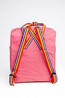 Рюкзак  Fjallraven Kanken Classic Rainbow 16л  Топ качество  красный с радужными ручками, фото 4