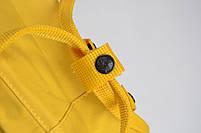 Универсальный рюкзак Fjallraven Kanken Classic 16 л Желтый (тканевая подкладка люкс), фото 5