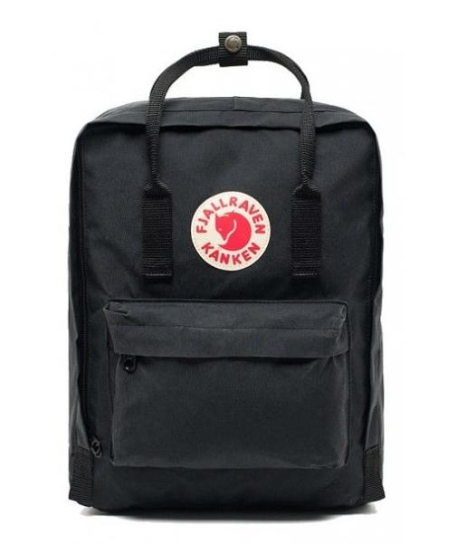 Молодежный рюкзак, сумка Fjallraven Kanken Classic, канкен класик Черный( тканевая подкладка)