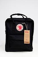 Молодежный рюкзак, сумка Fjallraven Kanken Classic, канкен класик Черный( тканевая подкладка), фото 2