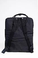 Молодежный рюкзак, сумка Fjallraven Kanken Classic, канкен класик Черный( тканевая подкладка), фото 7