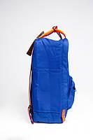 Рюкзак  Fjallraven Kanken Classic Rainbow 16л   ярко-синий с радужными ручками( тканевая подкладка), фото 2