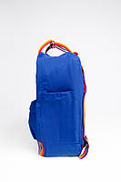 Рюкзак  Fjallraven Kanken Classic Rainbow 16л   ярко-синий с радужными ручками( тканевая подкладка), фото 3