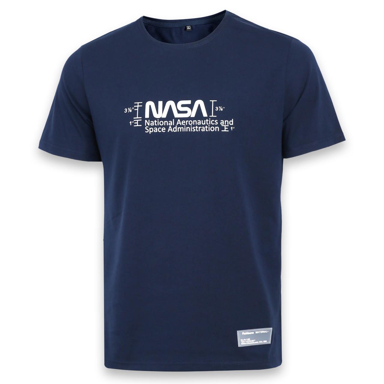 Футболка мужская т синяя с принтом NASA №2 Ф-10 DBLU L(Р) 20-800-020-001