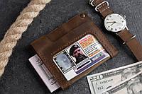 Кардхолдер кошелек MultiPass визитница коричневая, фото 1