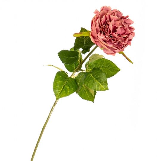 """Цветок искусственный """"Роза бархатная розовая"""""""