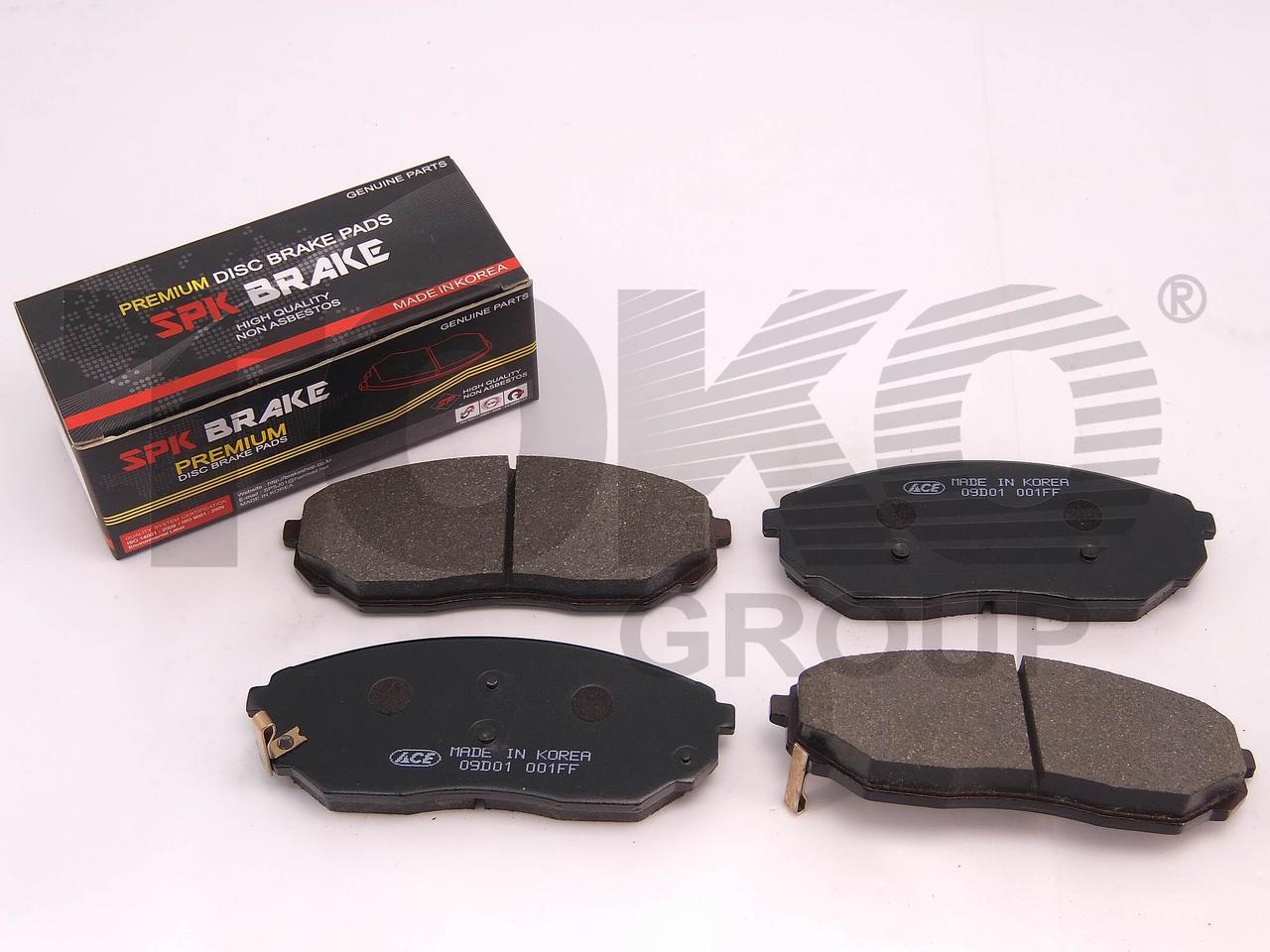 Передние тормозные колодки KIA SORENTO 2.5 TCI, 3.5I V6  02.08-   Колодки тормозные Киа Соренто