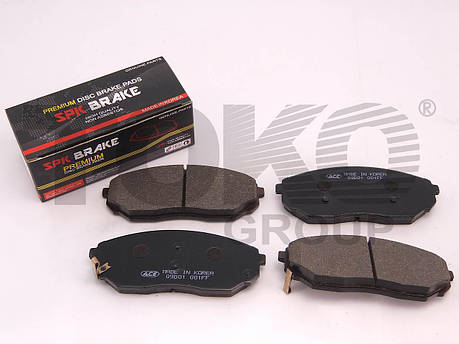 Передние тормозные колодки KIA SORENTO 2.5 TCI, 3.5I V6  02.08-   Колодки тормозные Киа Соренто, фото 2