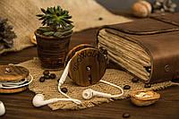 Деревянный аксессуар «Катушка для наушников»