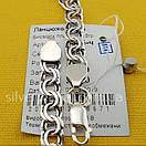 Серебряная цепочка Бисмарк (плоский - звено 6,5 мм), фото 8