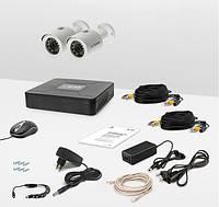 Комплект видеонаблюдения Tecsar 2OUT + HDD 1TБ