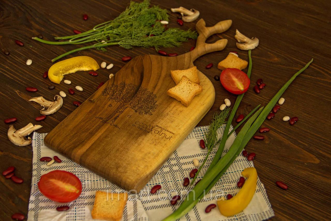 Доска ореховая «Веточки» L