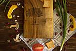 Доска ореховая «Веточки» L, фото 5