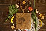 Доска ореховая «Рога» M, фото 2