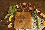 Доска ореховая «Рога» M, фото 3