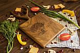 Доска ореховая «Рога» M, фото 5