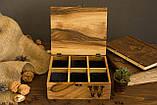 Коробочка для часов с деревянной крышкой 6, фото 2