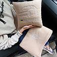 Автомобільний набір: подушка і плед з вишивкою контурів автомобіля!, фото 3