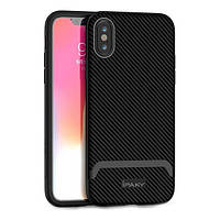 Накладка для iPhone X/iPhone XS iPaky Bumblebee Series/PC Frame With TPU Case Gray