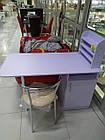 Стол маникюрный с надстройкой Данко 120*50*75, ДСП, фото 2