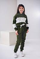 Стильный детский костюм на байке на девочку 8-12 лет оригинального дизайна