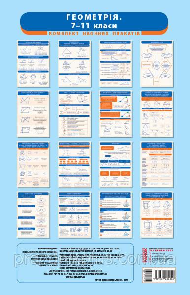 Геометрия 7-11 классы. Комплект учебных таблиц