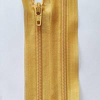 Молнии YKK спиральные неразъемные 12, 16, 18, 20, 22, 25, 30, 35, 40, 50, 60 см, разные цвета Золотисто-желтый, 500