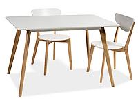 Стол обеденный Signal Milan 160x90 Белый (MILANBD160)
