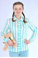 Модна підлітковий сорочка в смужку з бавовни вільного крою