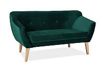 Прямой диван Signal Bergen 2 Velvet Зеленый (BERGEN2V78)