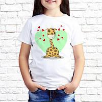 """Летняя футболка для девочки с принтом """"Жирафики"""", push it Украина"""