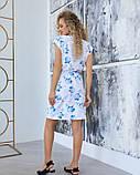 Белое принтованное платье на кулиске, фото 3