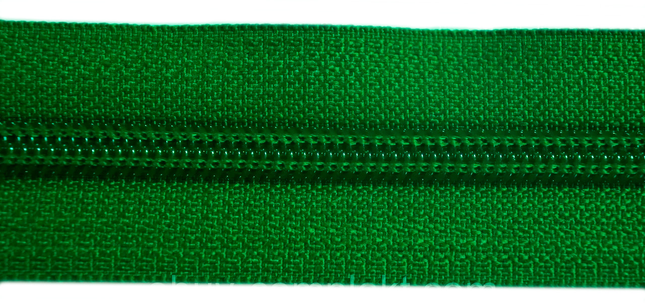 Молния лента (метражка)  №7 (10), цвет № 876 зеленый