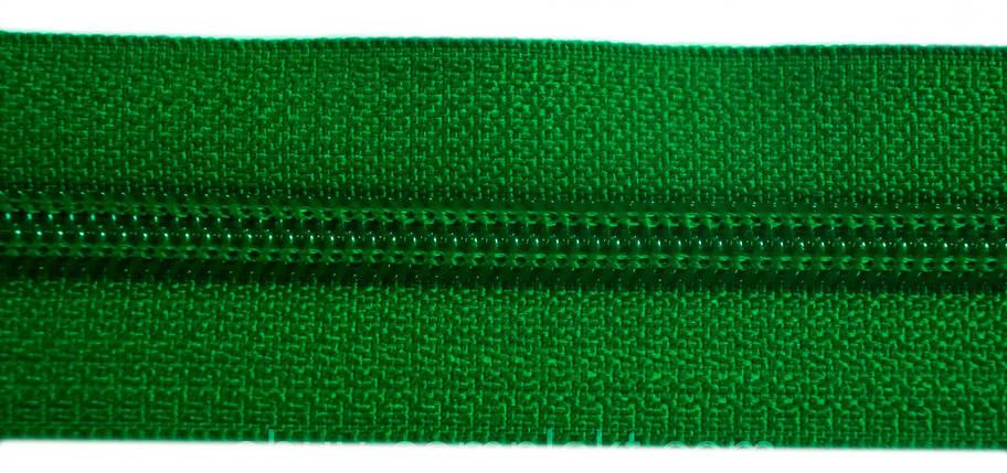 Молния лента (метражка)  №7 (10), цвет № 876 зеленый, фото 2