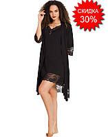 Женская одежда для сна пеньюар, ночнушка и халат, размер M, Vienetta