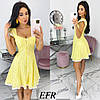 Літнє жіноче плаття з прошвы (4 кольори) ЕФ/-545 - Жовтий