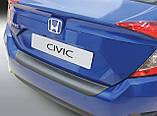 Пластикова захисна накладка на задній бампер для Honda Civic Mk10 SE/EX 4door sedan 2017+, фото 2