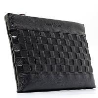 Клатч мужской, чехол для планшета, электронной книги на запястье черный Louis Vuitton 66235-83