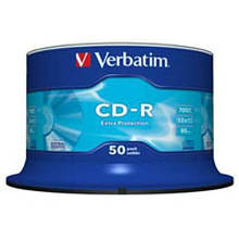 Диск CD Verbatim 700Mb 52x Cake box 50 Extra (43351)