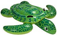Детский надувной плотик Intex 57524 «Черепаха» (150х127 см) Lil' Sea Turtle Ride-On