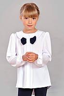 Елегантна асиметрична блузка для дівчаток з милим бантиком на планці