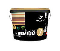 Краска латексная для внутренних работ Колорит  Интерьер Премиум 7, база А  9 л