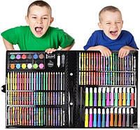 Детский художественный наборы для творчества и рисования Art set на 150 предметов в чемоданчике черный