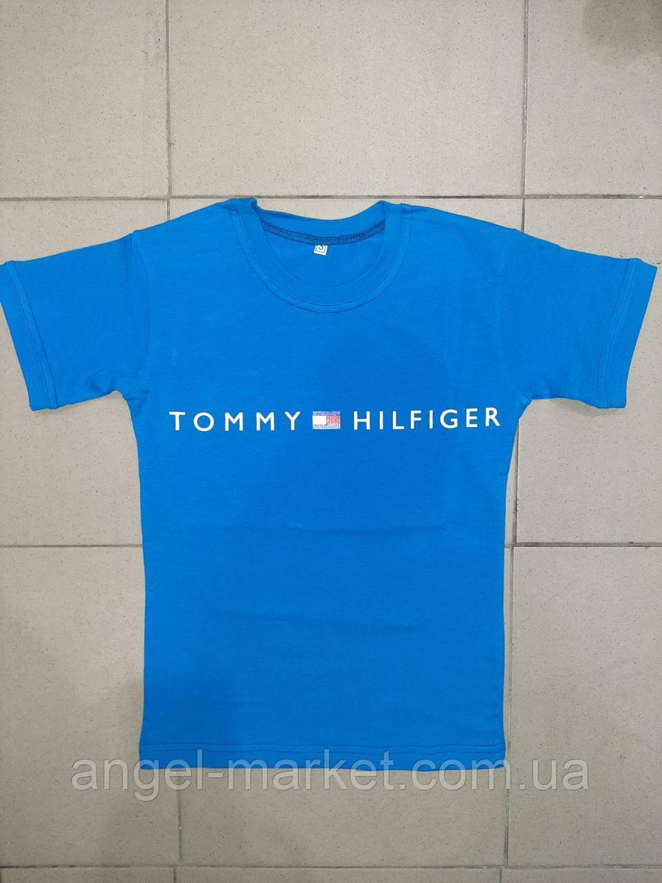 Футболка підліткова з принтом Tommy Hilfiger модна новинка 2021 (зростання 128:134:140:146:152)