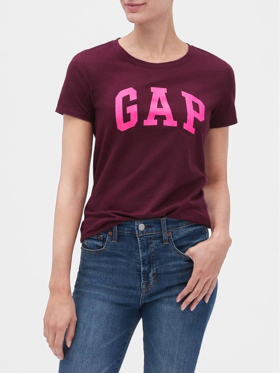Женская футболка GAP art994875 (Бордовый, размер L)