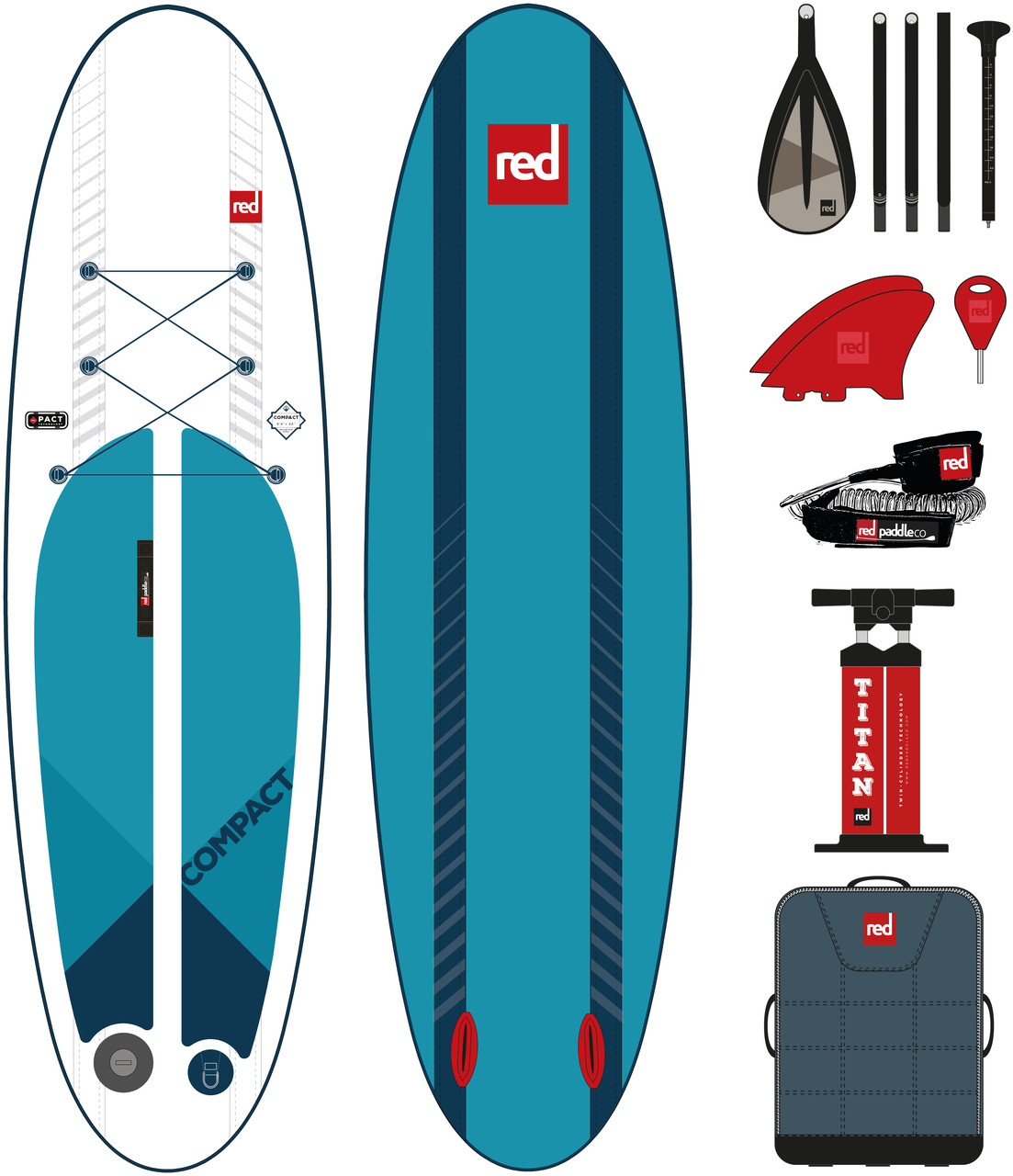 """Сапборд Red Paddle Co Compact 9'6"""" Package - надувная доска для САП серфинга, sup board"""
