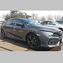 Молдинги на двері для Honda Civic Mk10 5dr H/B 2017-2020