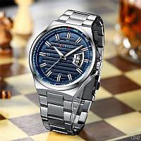 Часы мужские водонепроницаемые с браслетом Curren 8375 Silver-Blue