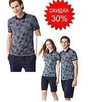 Пижама мужская бриджи и футболка, M, Турция, Feyza